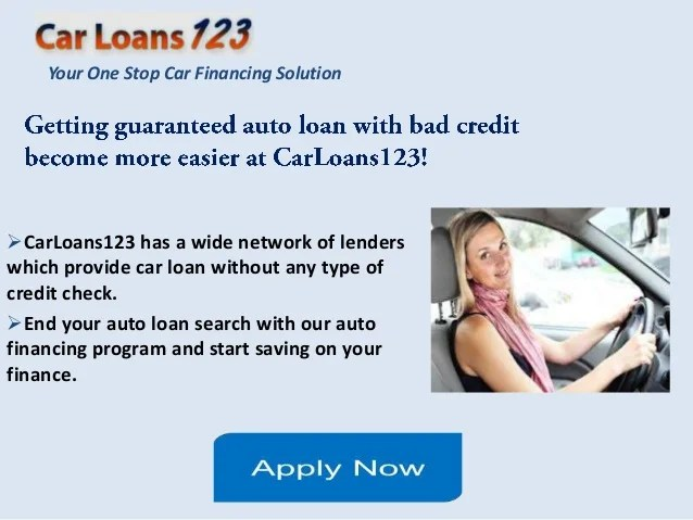 Guaranteed Car Loan Approval Bad Credit, Get Instant Approval Car Loan