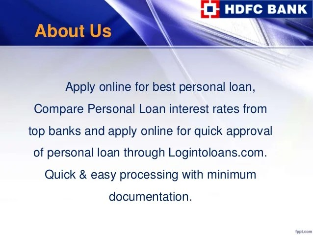 Hdfc bank personal loan, apply for hdfc bank personal loans online i…