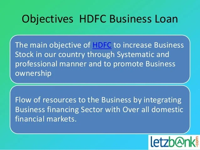 Avail Hdfc Business Loan at Letzbank