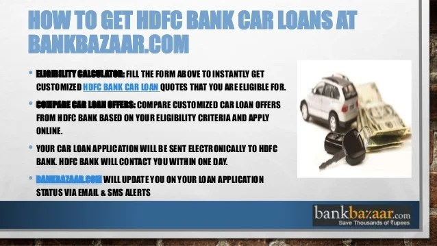 HDFC Car Loan - BankBazaar
