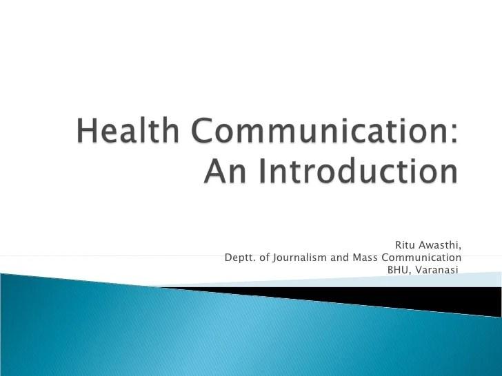 Health Communication