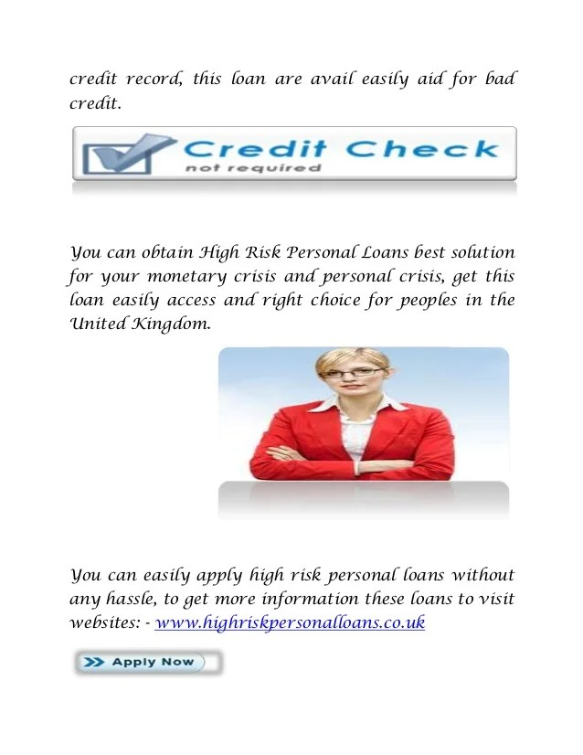 High risk personal loans solution with 100% approval!
