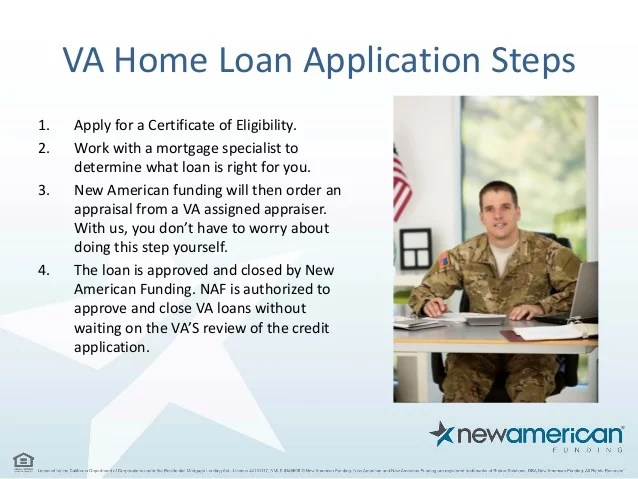 Home Loan Options for Veterans and Soldiers   New American Funding