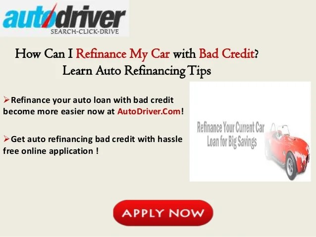 How Can I Refinance My Car with Bad Credit