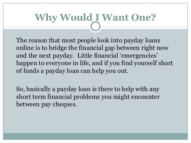 How do payday loans work
