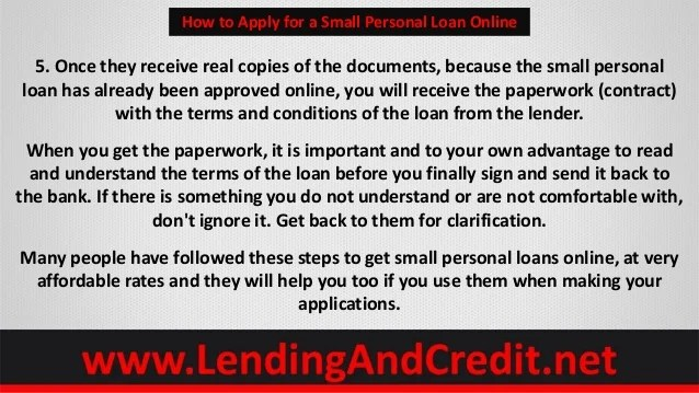 How to Apply for a Small Personal Loan Online Using 5 Tips