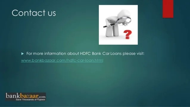 How to apply hdfc bank car loan online