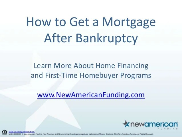 How to Secure a Mortgage After Bankruptcy