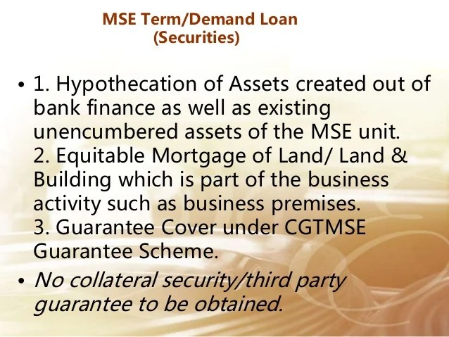 Industrial loan, MSME LOAN , SME TERM LOAN