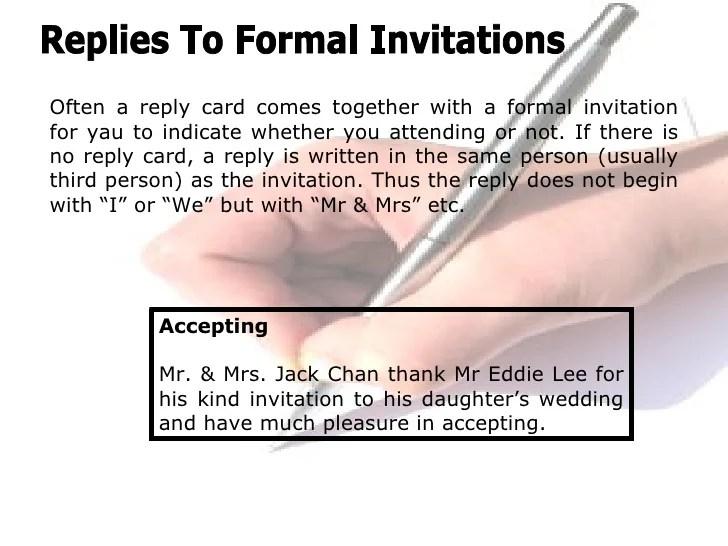 Formal reply to invitation format invitationswedd invitations stopboris Choice Image