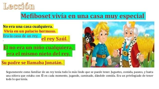 Leccion infantil no 2 mefiboset