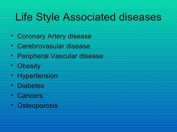Lifestyle and heart disease
