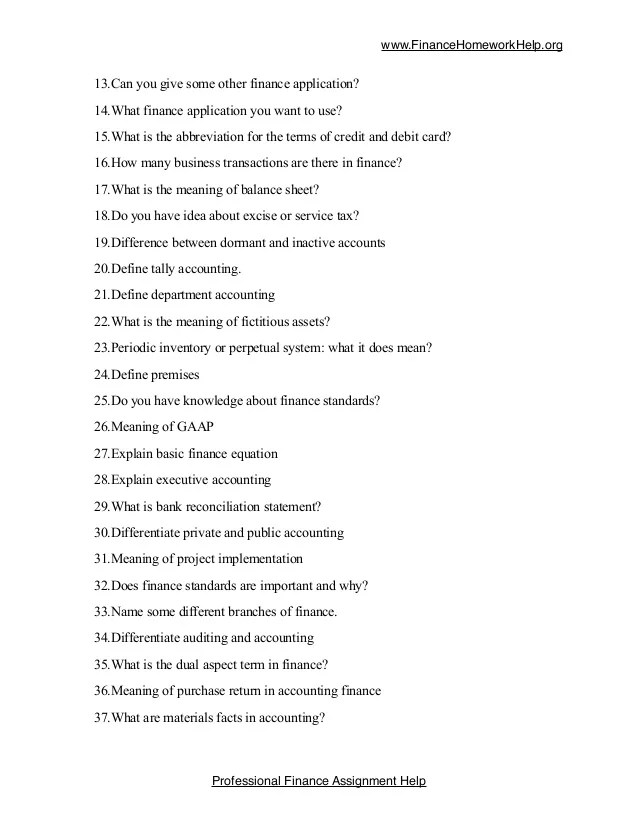 List of 100 Tricky Finance Questions for Students