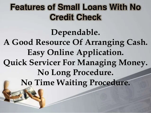Small Loans With No Credit Check: Furnish Your Unexpected Emergency D…