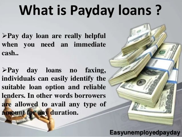 Payday Loans for Bad Credit Unemployed People