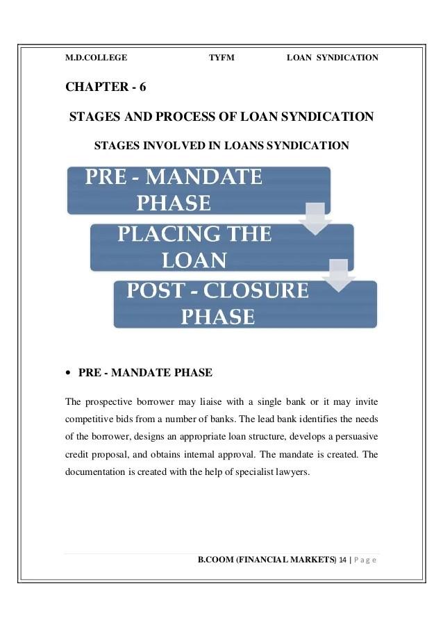 Loan syndication