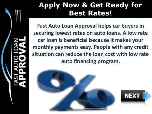 Low Interest Rate Car Loans : How can Fast Auto Loan Approval help Pe…