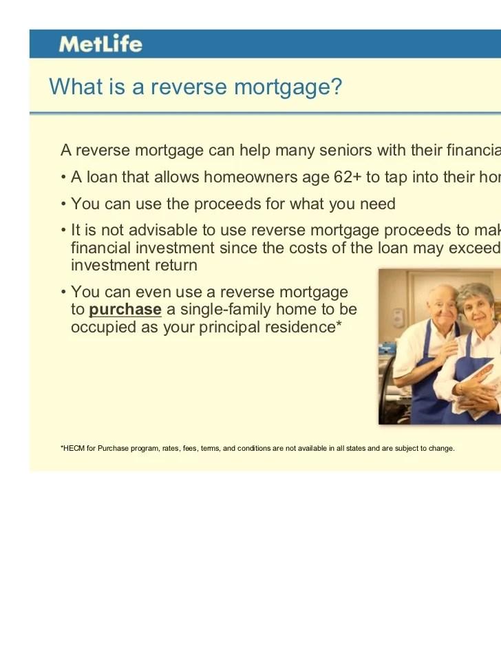 MetLife Reverse Mortgage Presentation