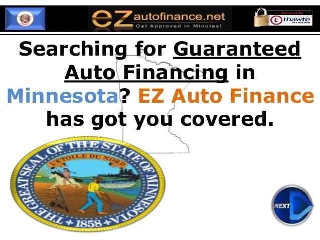 Minnesota Bad Credit Car Loans : Guaranteed Auto Financing at Low Rat…