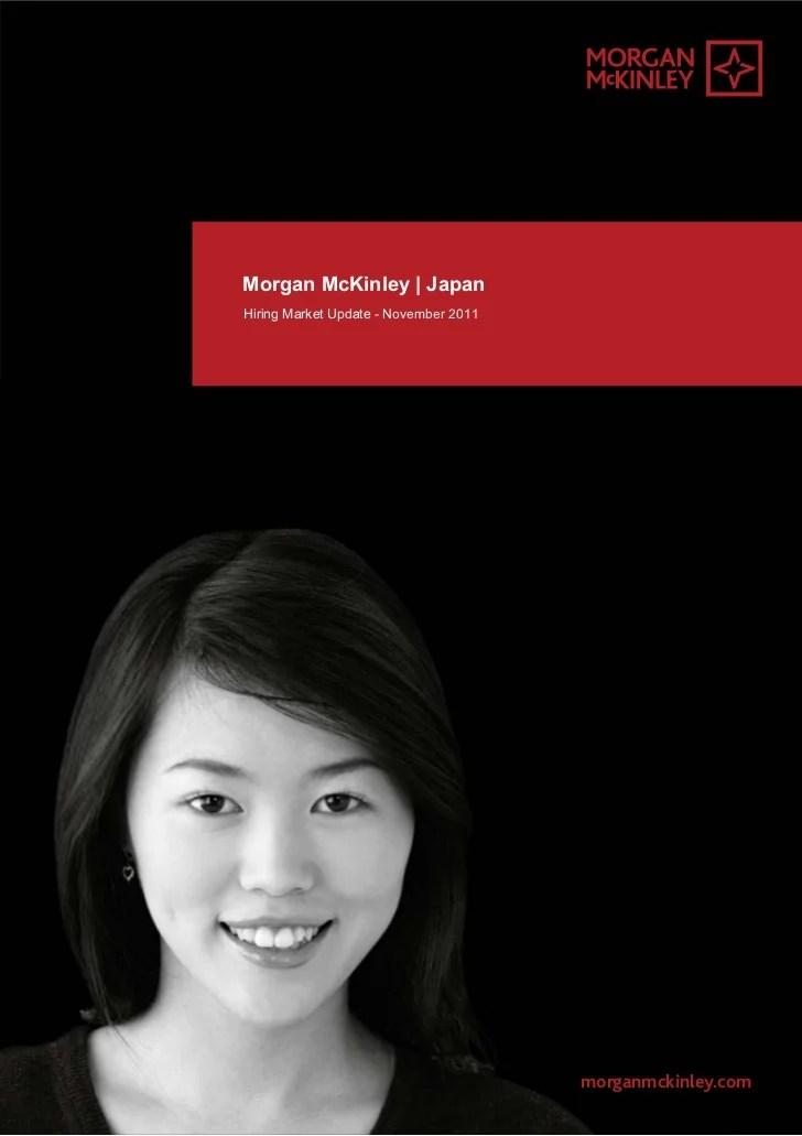 Morgan McKinley Japan Hirin Market Update Nov 2011