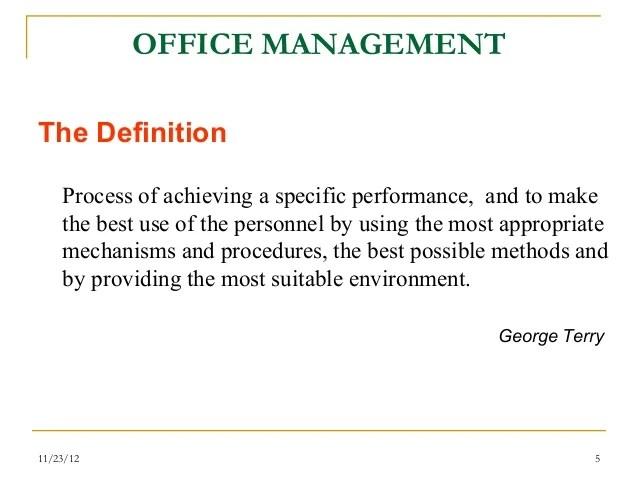 OFFICE MANAGEMENTComponents ...  C