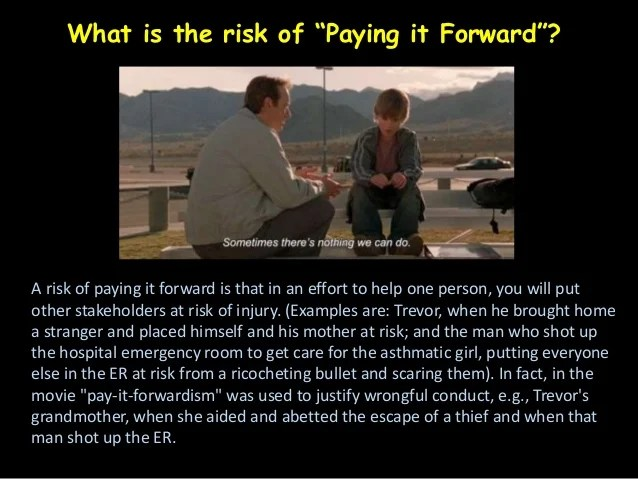 Pay it forward movie questions