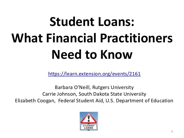 Student Loans: What Financial Practitioners Need to Know