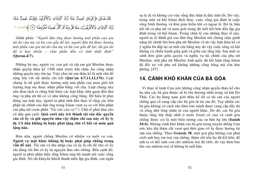 Phụ Nữ Islam Và Phụ Nữ Do TháI GiáO – ThiêN ChúA GiáO ChuyệN Hoang đư…