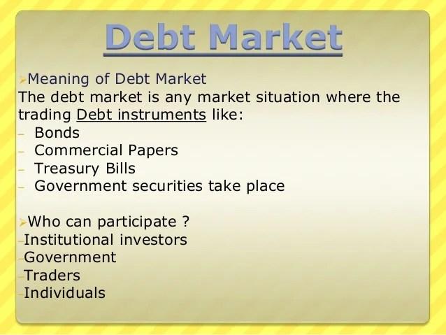 Debt Market PPT