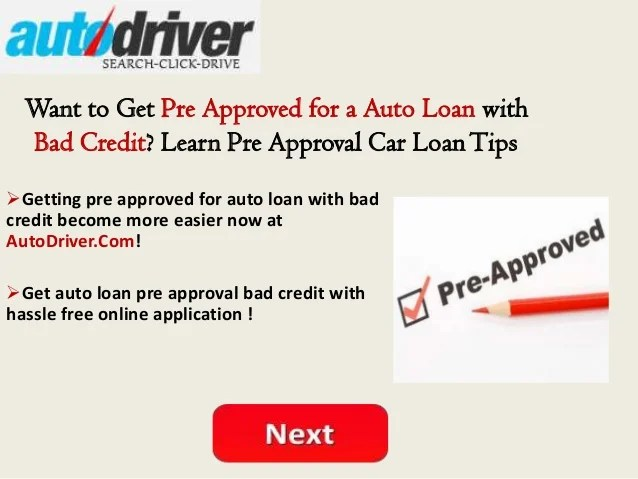 Pre approval auto loans | COOKING WITH THE PROS