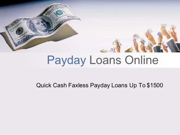 Payday Loans Online Up To $1500