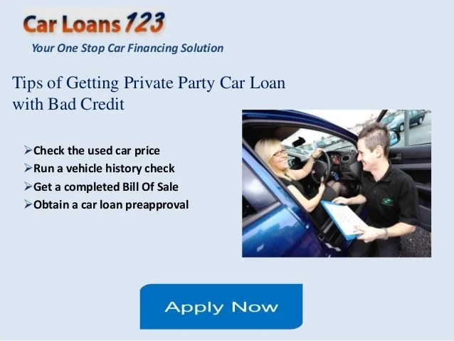 Private party auto loans for bad credit, best personal auto loan opti…