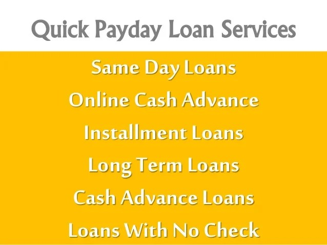 Same Day Payday Loans With No Credit Check Option Online! Apply Today