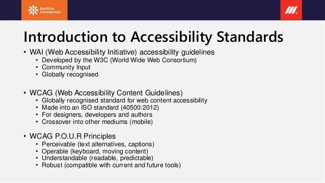 Scope website - how to make an accessible website