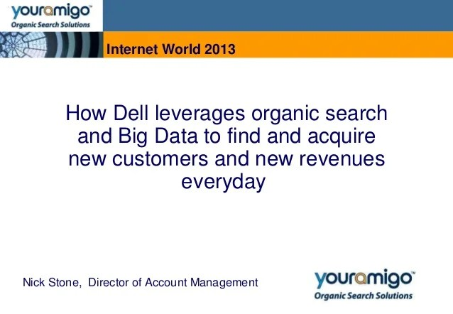 How Dell leverages organic search and Big Data to find and acquire ne…