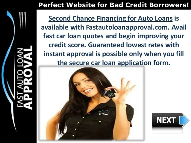 Second Chance Car Loans with Low Interest Rates & No Money Down Optio…