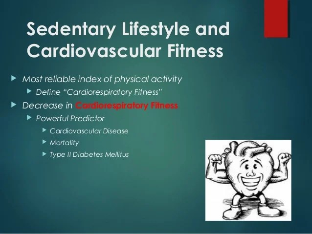 health threats of sedentary lifestyle and its management.