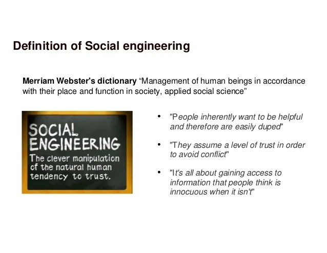 Social engineering – posing challenges to the thinking security profe…