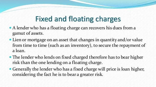 Mortgage Pledge Hypothetication Lien Charge(1st and 2nd Charge) Fixed…