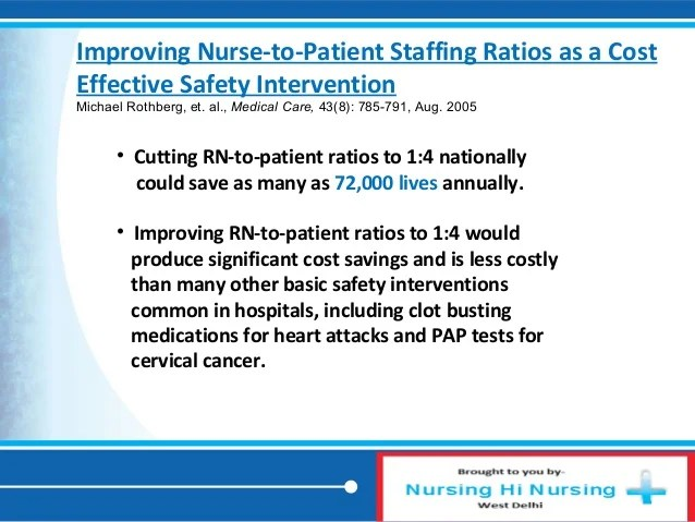 Staffing & infections