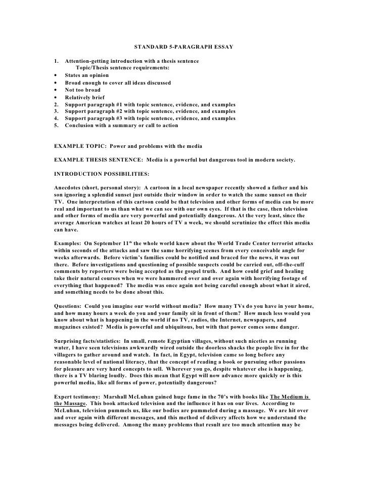 5 essay paragraph examples