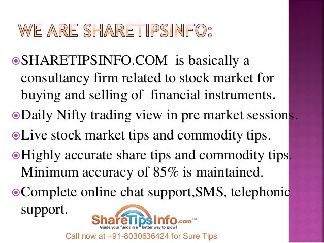 Stock market tips, commodity tips and forex signals sharetipsinfo