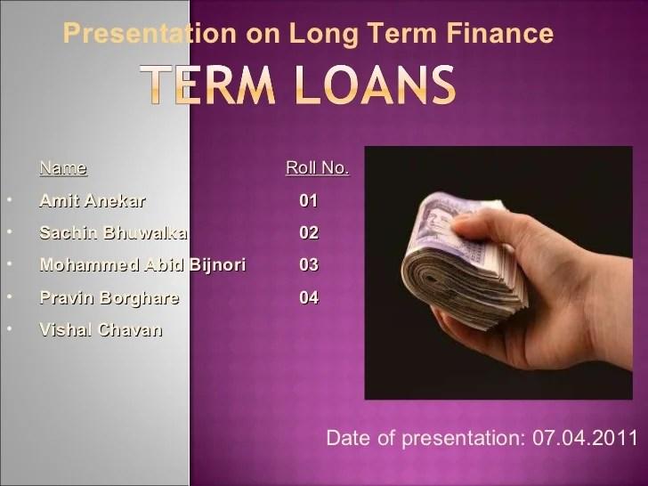 Term loan finance main ppt
