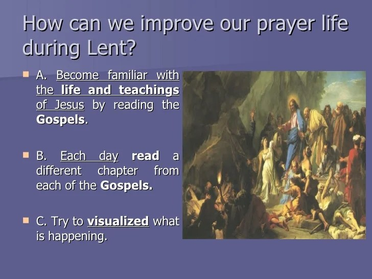 The season of Lent