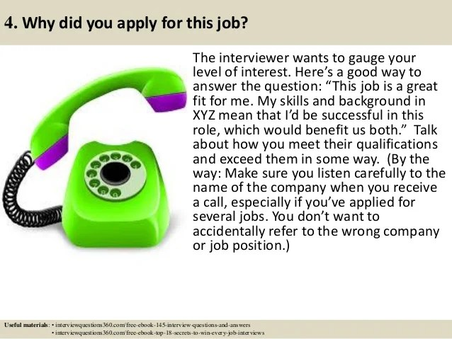 Top 10 phone interview questions and answers