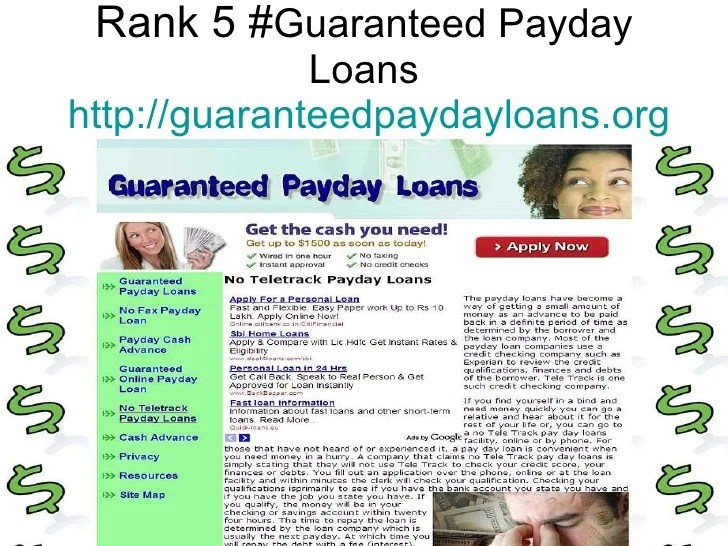 Top 5 Sites Of No Teletrack Payday Loans