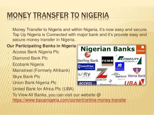 Nigeria Mobile Top UP, Bill Payment and Money Transfer Online