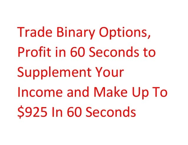 all binary options brokers 60 seconds robot