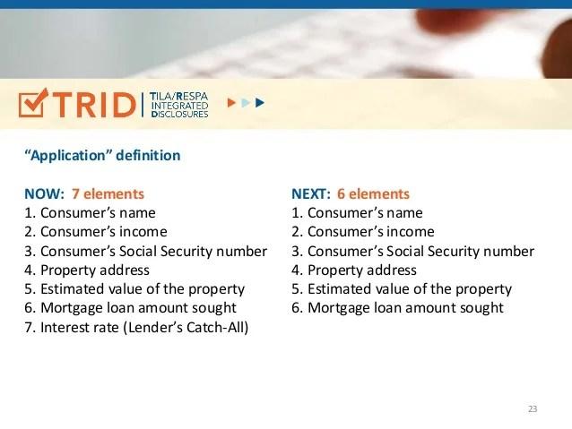 TRID (TILA/RESPA Integrated Disclosures)