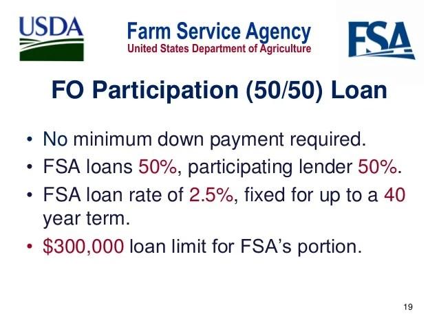 FSA Farm Loan Opportunities - Robert White